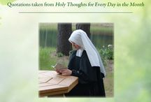 Holy Thoughts / Follow St. Alphonsus' counsels and advice on the spiritual life