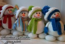 Knitting patterns / Toys and snowmen
