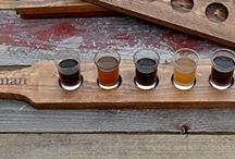 Groomsmen Gift Ideas / Having a Wedding?  These Personalized Beer Tasting Flights are a perfect gift for the special people in your life.