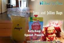 Jams and Jellies bags and Ketchup Spout Pouch / Jams and Jellies bags and Ketchup Spout Pouch. http://www.standuppouches.com/