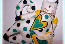 Zwierzątka malowane i szyte /  ♥♥♥
