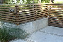 Fence ideas / ideas for a wooden fence above a retaining wall - like the look of narrow horizontals