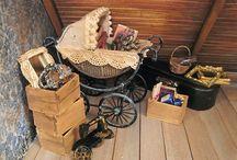 Greniers & Caves / Intérieurs  - Matériels & Accessoires  miniatures pour maisons de poupées au 1/12ème