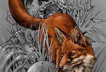 dog, fox, wolf