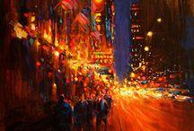 město, lidské umění...