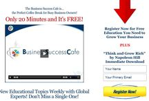 Follow the Business Success Cafe  /