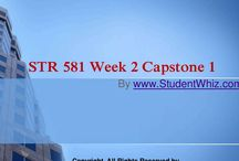 STR 581 Week 2 Capstone 1