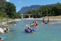 Campings met rivier en zwembad Frankrijk