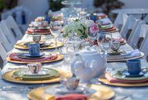 Tre Swank Tea Party ~ Stacy Armand Event Designs / Chic Tea Party Brunch #Roses, #tablescape #porcelain #hydrangea #tea #teaparty #scones #brunch #wine #pastries #desserts #hightea #events