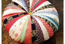 Purdy floor pillows / Colorful floor pillows created by Me!