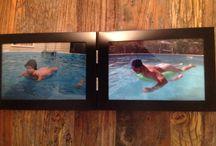 Family Photo redo / Recreating that classic 'Swim naked in the pool' scene!