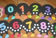 Preschool number bulletin board ideas