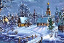 Sneeuw-huisjes