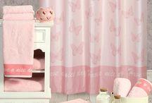 Κουρτίνα Μπάνιου Wings Pink Nef-Nef