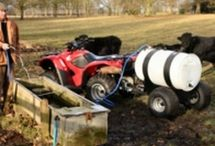 Animal drinking carts / ATV quad bike towable drinking water carts and trailers to fill up water troughs around the farm for your cattle, sheep, horses, alpacas and llamas. These towable drinking trailers will transport drinking water to the animals grazing when there is no ready water supply. For more info: http://www.fresh-group.com/drinking-carts.html