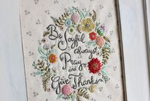 Inspirational embroidery / by Crafted