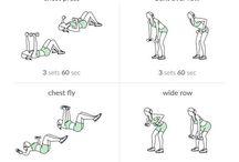 Träning rygg bröst