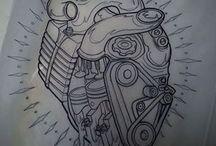 Motos tatoos