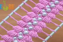 Hairpin lace corchet, gimping.