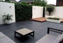 Jardin, deco de terrazas, piscinas