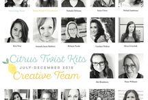 2018 July-Dec Citrus Twist Kits Creative Team