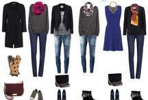 Carry-on outfits / Outfits for weekend getaway or short trips.
