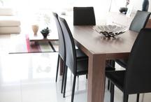 Modern Walnut 6-8 Seater Domino Dinner/Kitchen Desk/Table