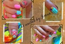 My work (nails & make up)
