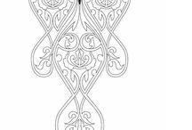 Рисунки для вышивки горловины сборник