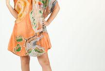 Vestidos de seda. iSedas Collection 2013 / Vestidos de seda exclusivos pintados a mano.  Handmade exclusive silk dress