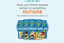Stick A Minion On It Finalists - Summer 2013 / THANK YOU to everyone who had fun taking and sending the creative photos in our #StickAMinionOnIt contest on Instagram! Below are the Finalists from our weekly challenges, each of whom won 'Fun Packs'—in August, we will announce the winner of the Grand Prize, $300 in cash!  / by Chiquita Brands