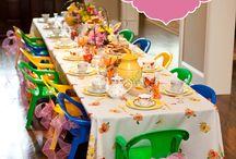 Tea party little girl