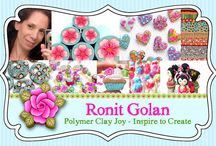 Polymer Clay Artist <3 Ronit Golan / One of my favorite polymer clay artist! Love her work!  And love the way she combine colors!