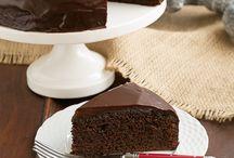 One layer fudge cake