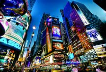 New York, big lights will inspire you / by BobbiJo Reinking