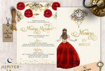 Red and gold invitation