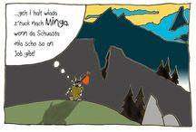 Berg-Wolpertinger Wolfi / Berg-Wolpertinger Wolfi erklärt uns die Alpine Welt aus seiner Sicht.