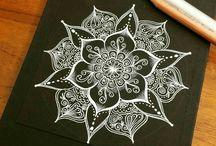 white on black art