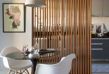 Timber slatted partitions