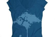 tee shirt World Map