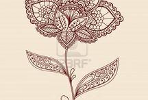 Henna - mhendi - mandalas