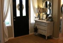 Front Doors / Front door curtains, wreaths, decor, paint