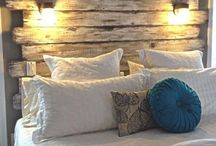 Bedroom DIY / Bedroom headboard ideas and other decor