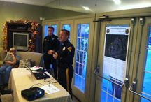Woodview Apartments Safety seminar  October 7, 2014 / The residents of Woodview Apartments received a seminar on how to prevent a burlgary.  May residents came out to meet the officers and get worthwhile information.
