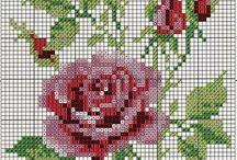 Broderat blommor