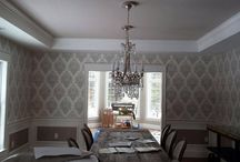 Town Line Wallpaper Projects / Projects completed using wallpapers from Town Line Wallpaper & Paint that will hopefully inspire your next wallpaper project.