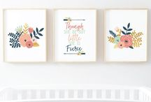 Baby Girl Nursery / This board is a collection on photos from SimplySarahMarie and baby girl nursery photos found for inspiration.