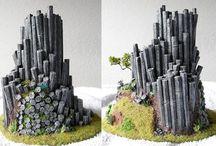 construcciones en miniatura