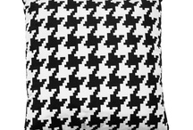 Majestic Cushions. Dogtooth In White & Black