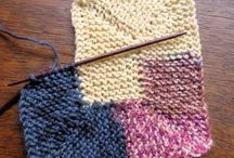 Knitting scrap yarn